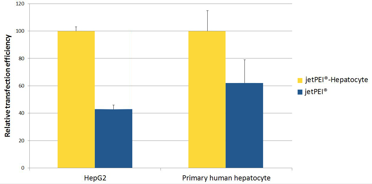 jetPEI-hepatocyte - Graphic comparison jetPEI