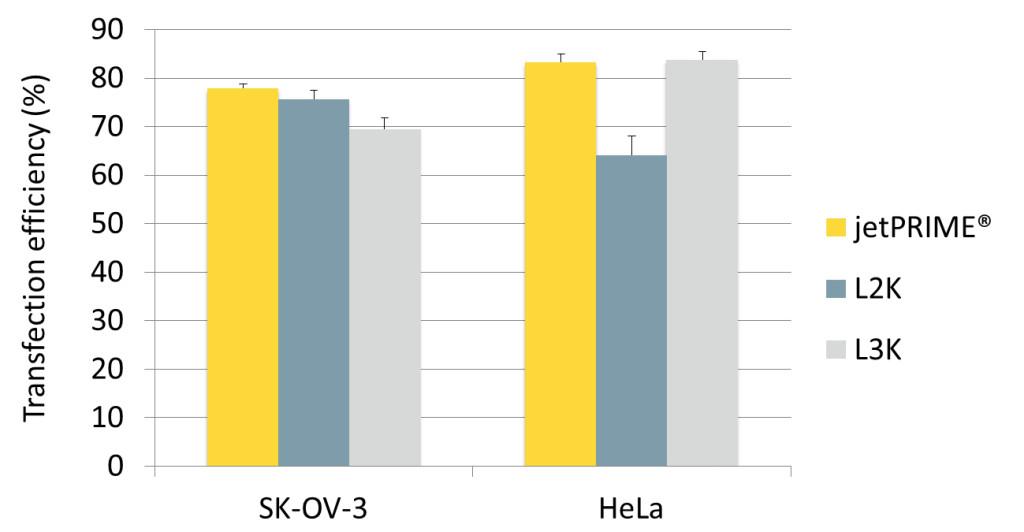 jetPRIME - graphic comparison competitors
