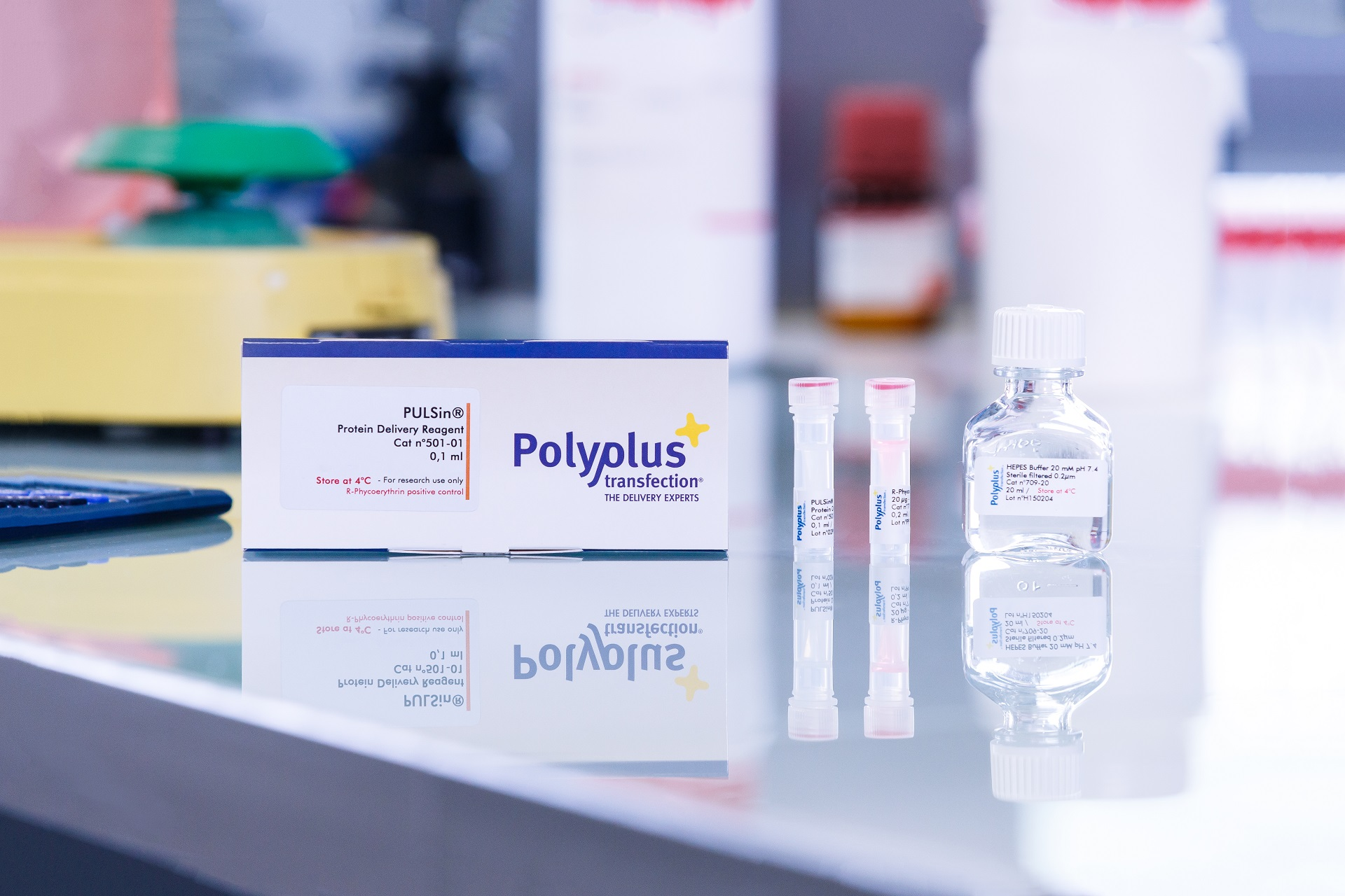PULSin packaging - Polyplus-transfection