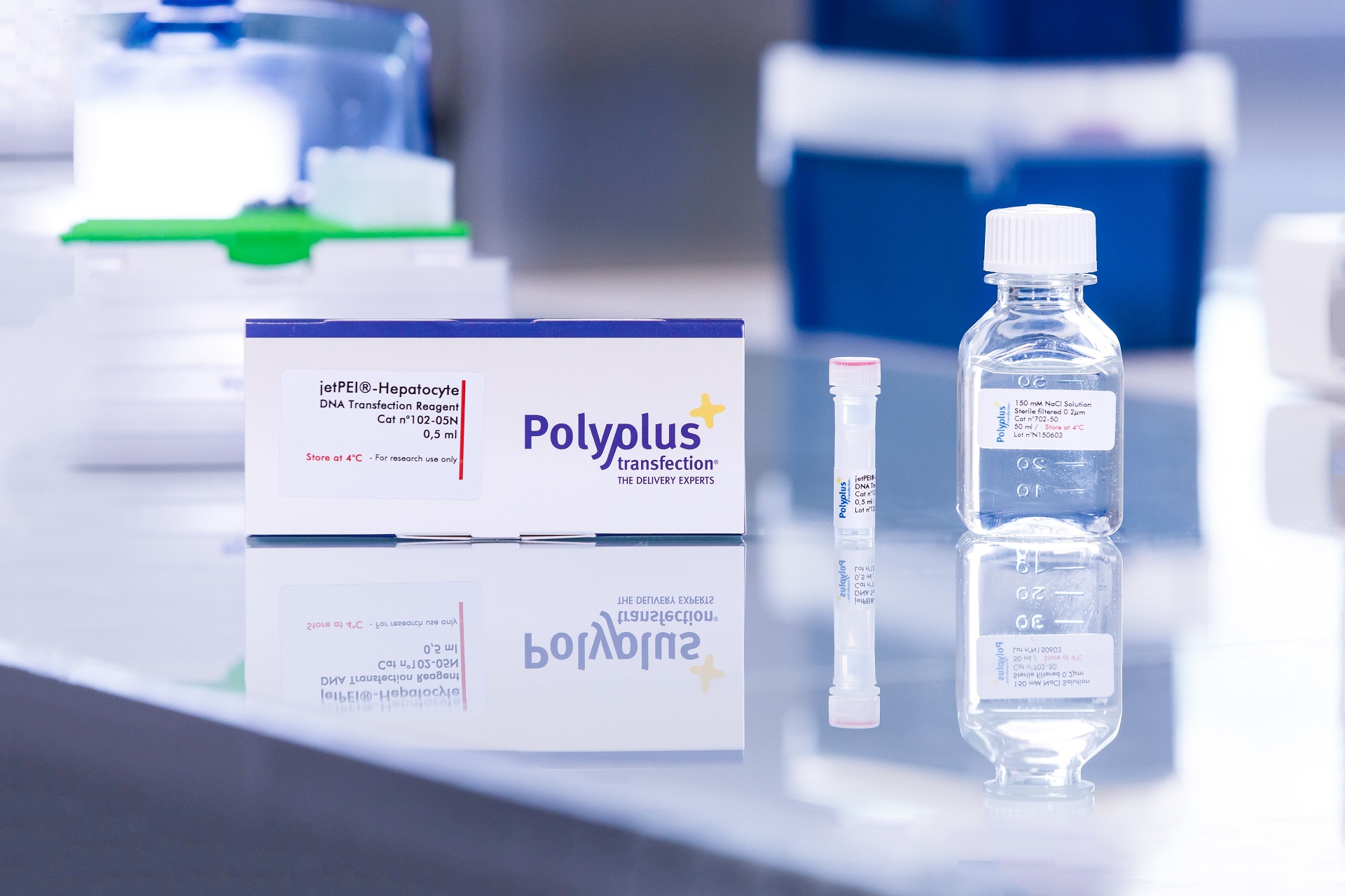 jetPEI-Hepatocyte packaging - Polyplus-transfection