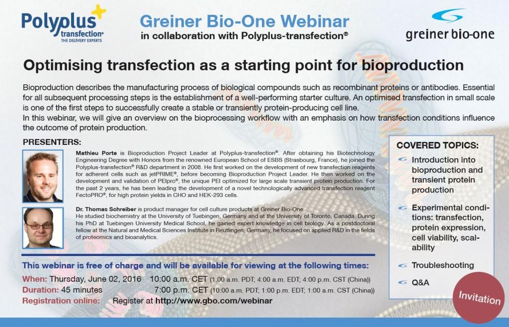 Greiner Bio-one Webinar 2016