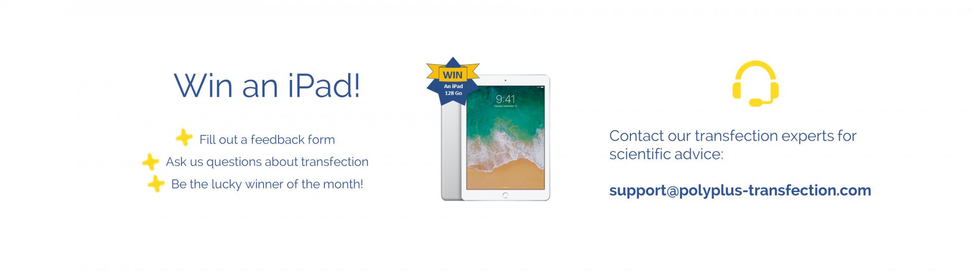 Win an iPad with your feedbacks