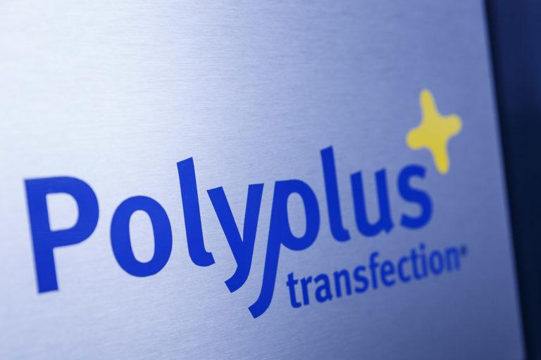 Polyplus logo on blank sheet